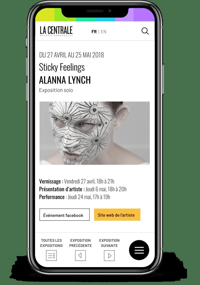 Prévisualisation du site sur téléphone