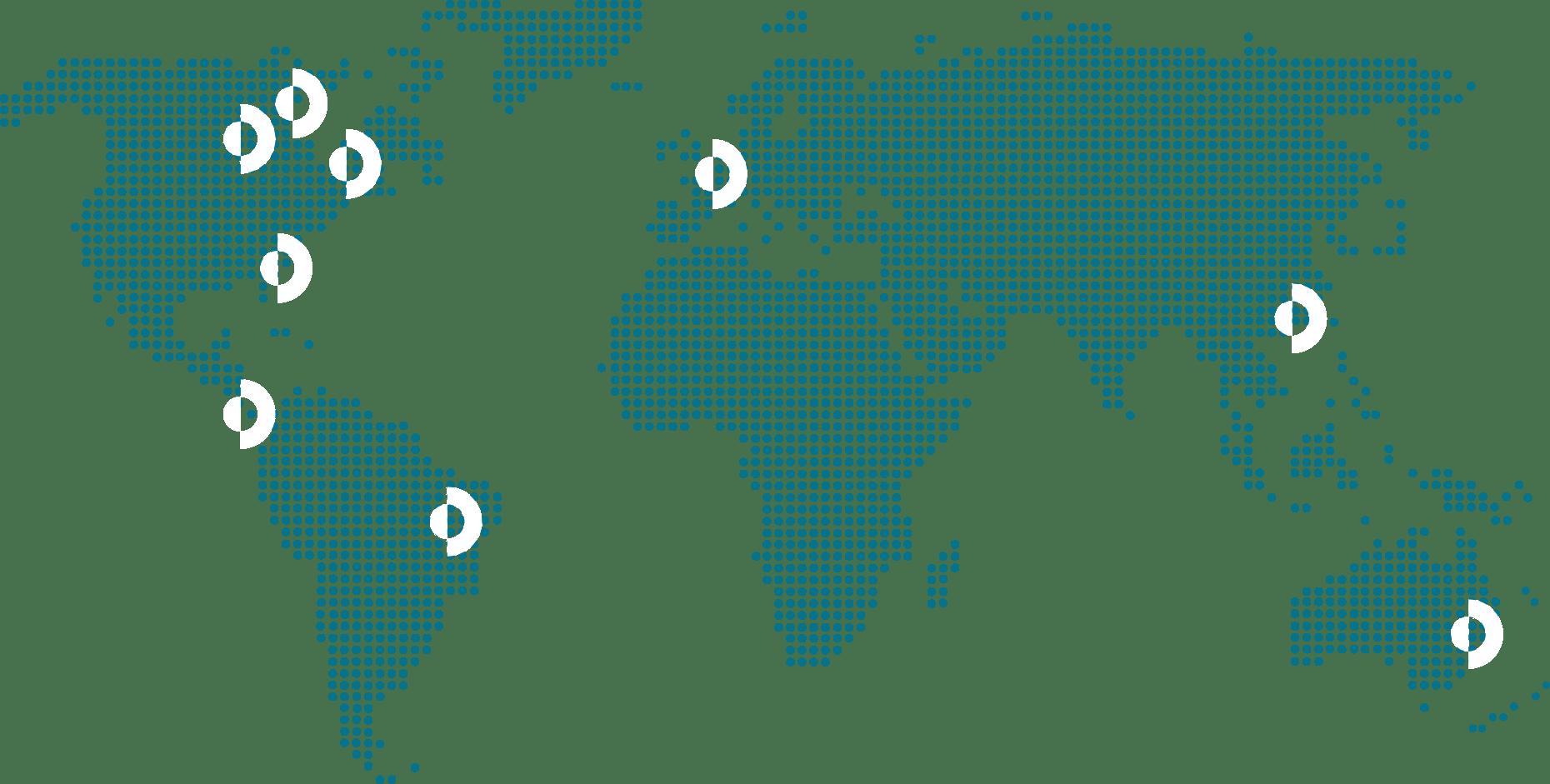 Carte du monde designée pour Labelium