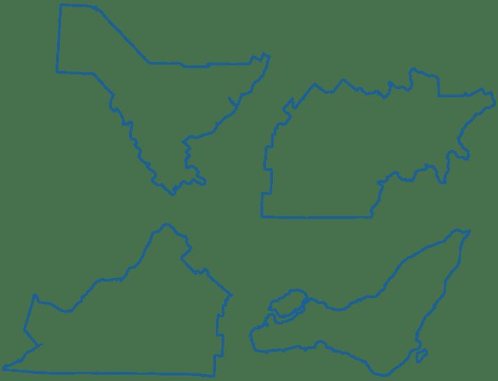 Iconographie de régions du Québec